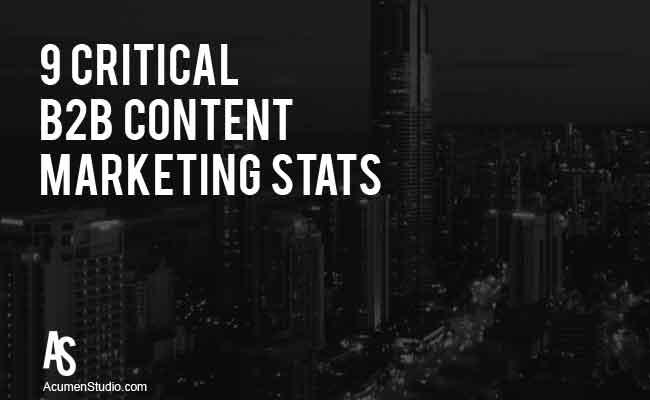 9 B2B Content Marketing Stats