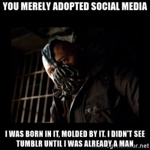 Bane meme social media Tumblr
