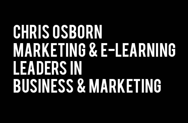 chris osborn markeing and e-learning
