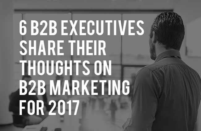 B2B Marketing Executives Talk B2B Marketing for 2017
