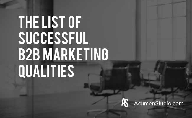 Successful-B2B-Marketing-Qualities
