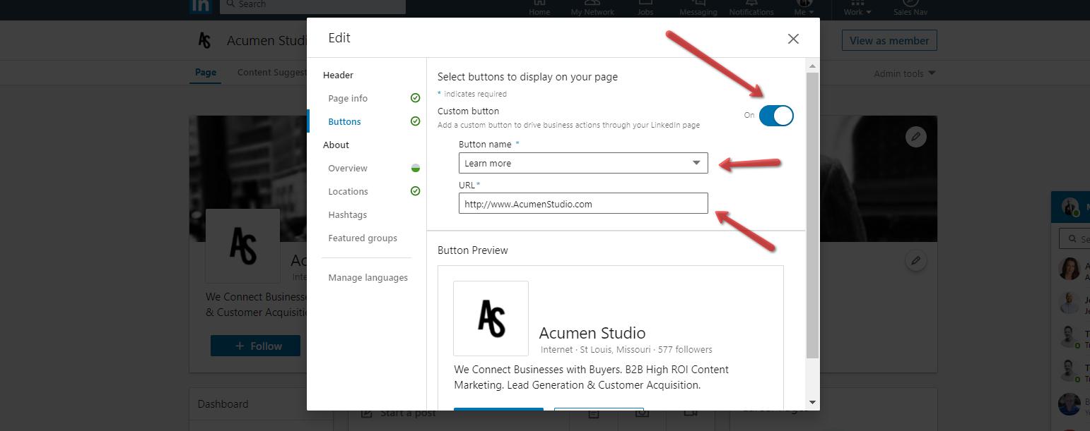 Acumen_Studio_LinkedIn_Company_Page_Profile_Button_Settings