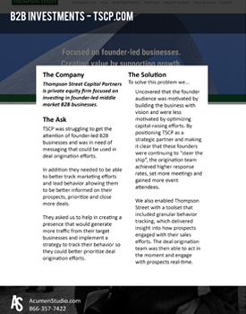 Private Equity Digital Marketing Case Study