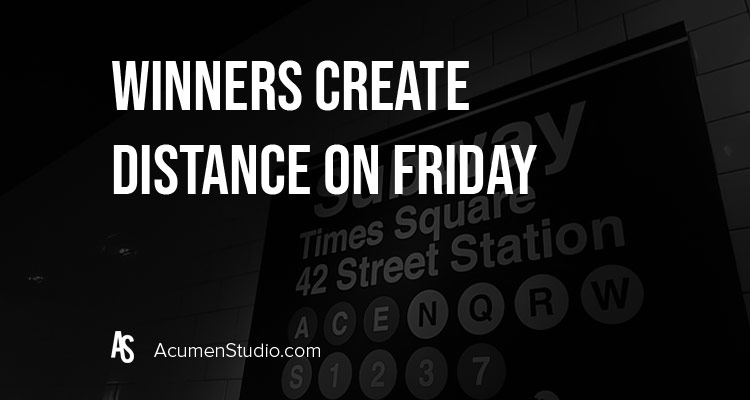 Winners Create Distance on Fridays